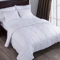 Feather and Loom Down Cotton Blanket, White (Assorted Sizes)