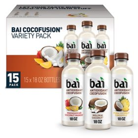 Bai Antioxidant Cocofusions Variety Pack (18 fl. oz. bottle, 15 ct.)