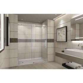 Aston Warwick Sliding Shower Door (Stainless Steel Finish)