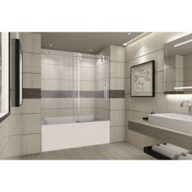 Aston Warwick Sliding Tub Door (Chrome Finish)