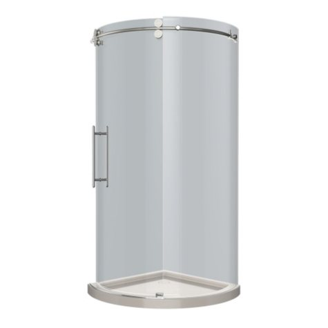 Aston Solita Round Sliding Shower Enclosure with Base (Stainless Steel Finish)