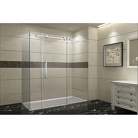 Aston Miramar Sliding Shower Enclosure (Stainless-Steel Finish)