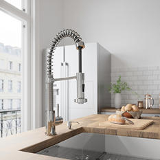 VIGO Pull-Out Spray Kitchen Faucet, Chrome Finish