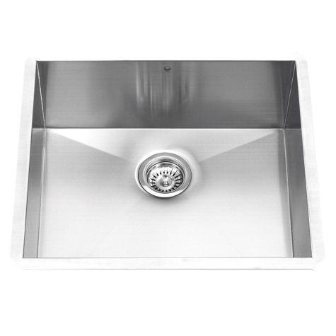 """VIGO 23"""" Undermount Stainless Steel 16-Gauge Single Bowl Kitchen Sink"""