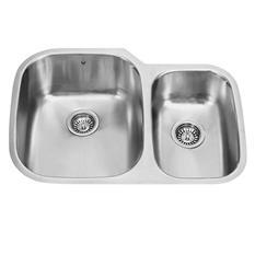 """VIGO 30"""" Undermount Stainless Steel 18-Gauge Double Bowl Kitchen Sink"""
