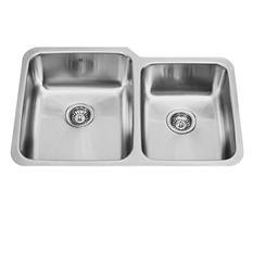 """VIGO 32"""" Undermount Stainless Steel 18-Gauge Double Bowl Kitchen Sink"""