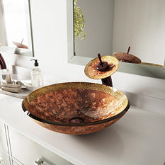 VIGO Janus Glass Vessel Bathroom Sink