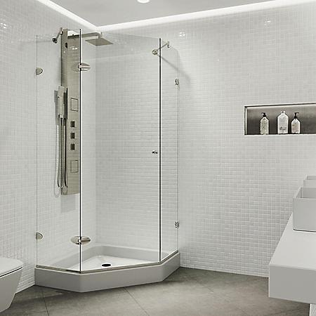 Vigo Verona Frameless Neo-angle Shower Enclosure with Base