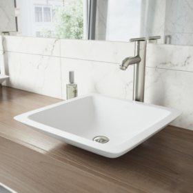 VIGO Bathroom Vessel Faucet - Brushed Nickel