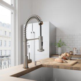 VIGO Edison Pull-Down Spray Kitchen Faucet (Stainless Steel)