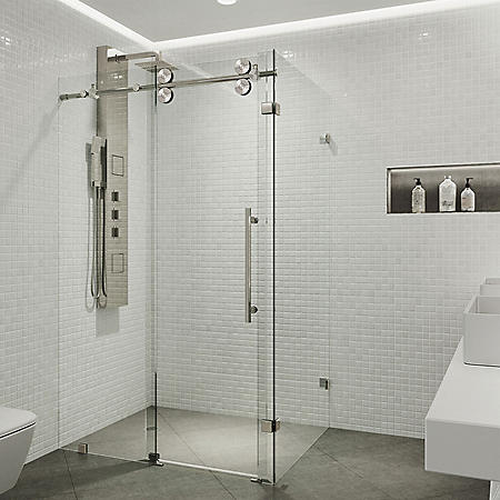 Vigo Winslow Frameless Sliding Door Shower Enclosure