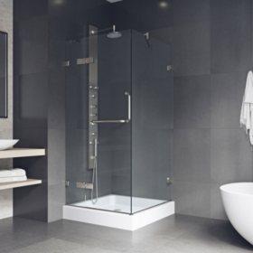 Vigo Monteray Frameless Shower Enclosure with Base