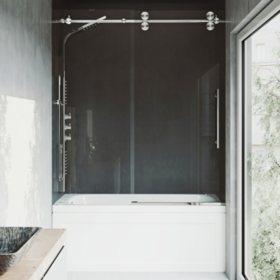 VIGO Elan Frameless Adjustable Sliding Tub Door