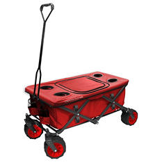 All-Terrain Folding Wagon with Table, Assorted Colors