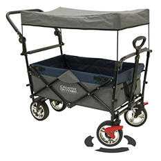 Creative Outdoor Push and Pull Folding Wagon (Various Colors)