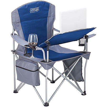 Creative Outdoor Folding iChair Collapsible Folding Wine Chair with Adjustable Table and Wine Glass Holder (Various Colors)