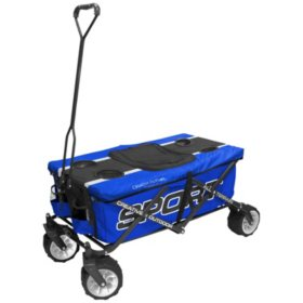 Creative Outdoor All-Terrain Folding Sport Wagon Edition with Table (Various Colors)