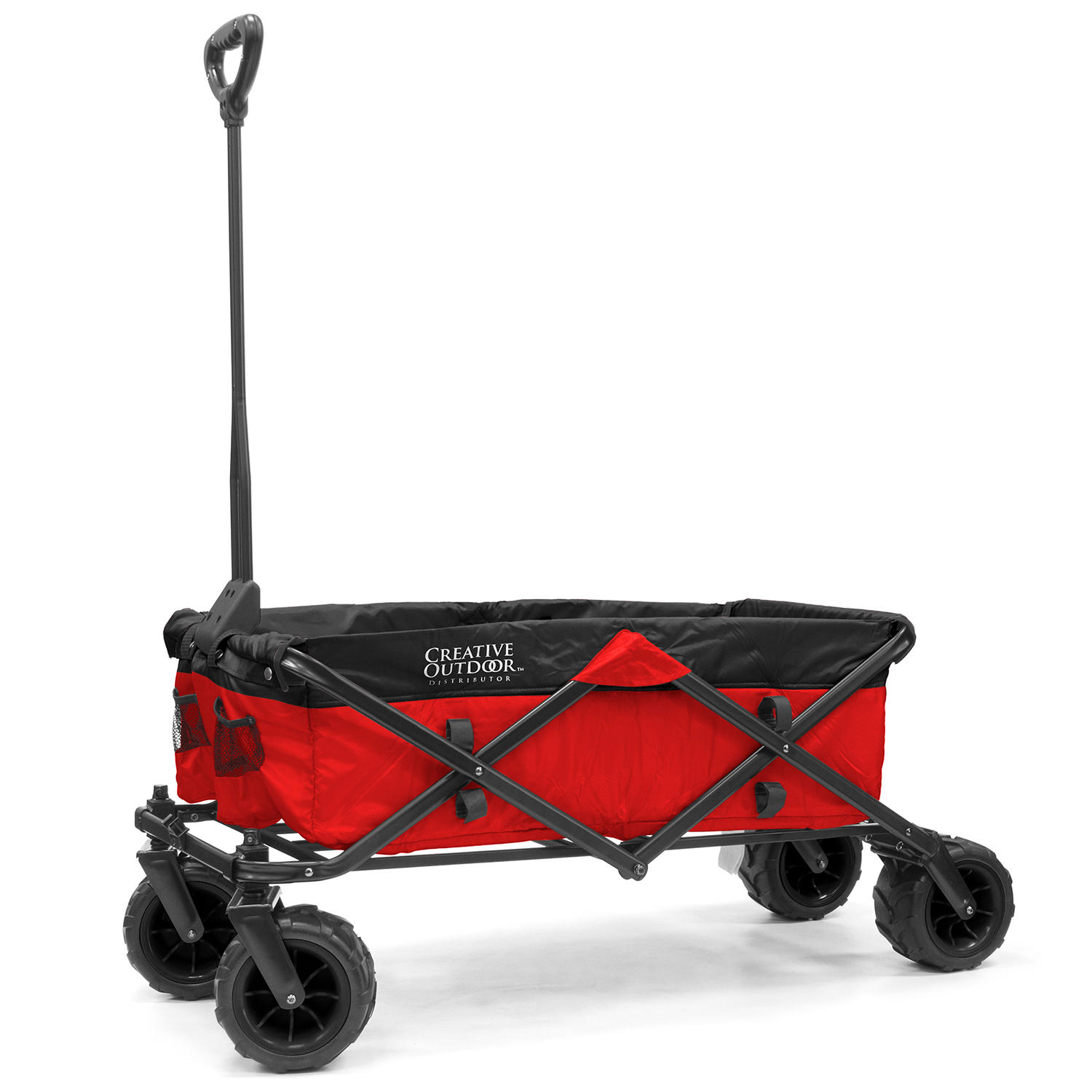 Creative Outdoor All-Terrain Folding Sport Compact Wagon Two-Tone (Variable Colors)