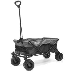 Creative Outdoor All-Terrain Folding Sport Compact Wagon, Two-Tone (Choose Your Color)