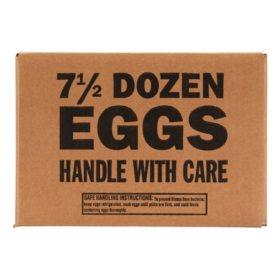 Grade A Large Eggs, Bulk Wholesale Case (7.5 doz.)