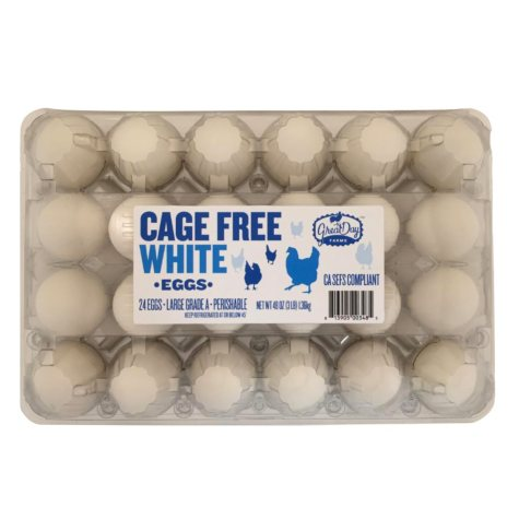 Great Day Farms Cage Free White Eggs (24 ct.)