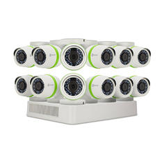 EZVIZ 16-Channel 1080p Security System with 2TB HDD, 12x 1080p Bullet Cameras and 100' Night Vision