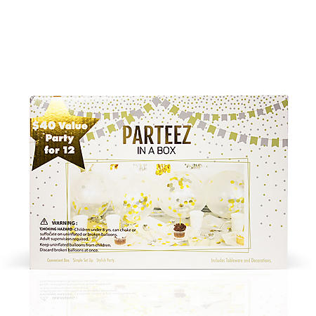 Parteez in a Box, Birthday Party - Set of 12