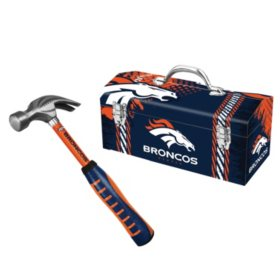 Admirable Denver Broncos Steel Hammer And Tool Box Combo Sams Club Andrewgaddart Wooden Chair Designs For Living Room Andrewgaddartcom