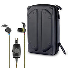 Tough Tested Noise Isolation Earbud With Microphone and Tech Gear Bag