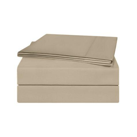 100% Pima Cotton 820 Thread Count 4 Piece Sheet Set -  Queen (Taupe)