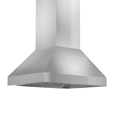 "ZLINE 36"" 900 CFM Remote Blower Island Mount Range Hood in Stainless Steel (597i-RS-36)"