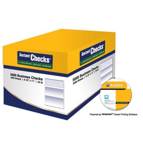 Instant Checks - Form 1000 Business Voucher - Blue Prestige - 5000 Sheets