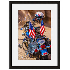 Framed Fine Art Photography - Patriotic Ride By Blaine Harrington