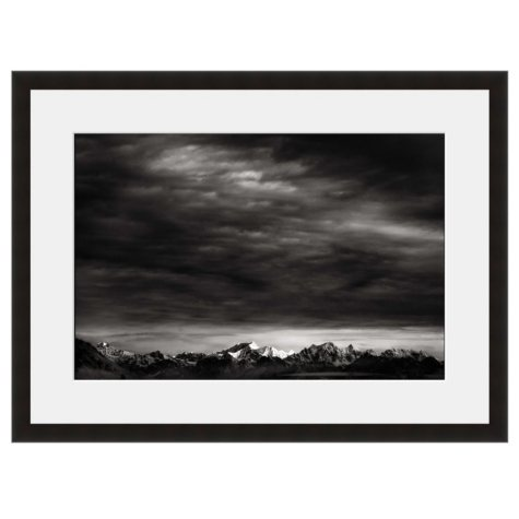 Framed Fine Art Photography - Winter Peaks Under Stormy Skies by Vincent Versace