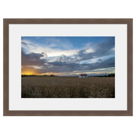 Framed Fine Art Photography - Wheat Field Under Big Sky By Andy Katz