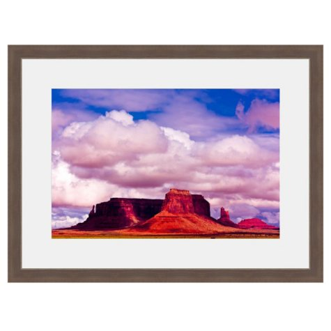 Framed Fine Art Photography - Clouds Over Monument Valley By Blaine Harrington