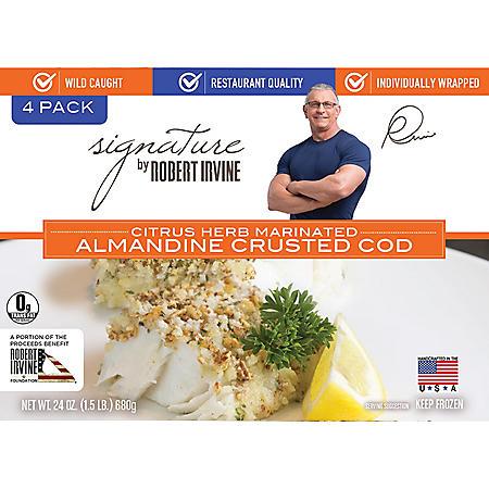 Signature by Robert Irvine Almandine Crusted Cod, Frozen (24 oz.)