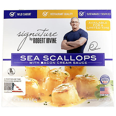 Signature by Robert Irvine Sea Scallops with Bacon Cream Sauce, Frozen (16 oz.)
