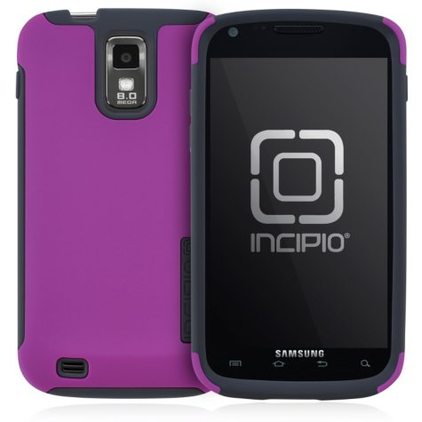 Incipio SILICRYLIC for Samsung Galaxy S II by T-Mobile - Dark Purple/Light Gray