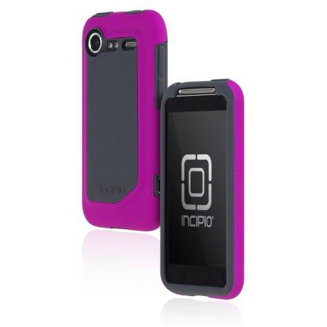 Incipio HTC Incredible 2 Silicrylic Hard Shell Case with Silicone Core-Purple/Gray