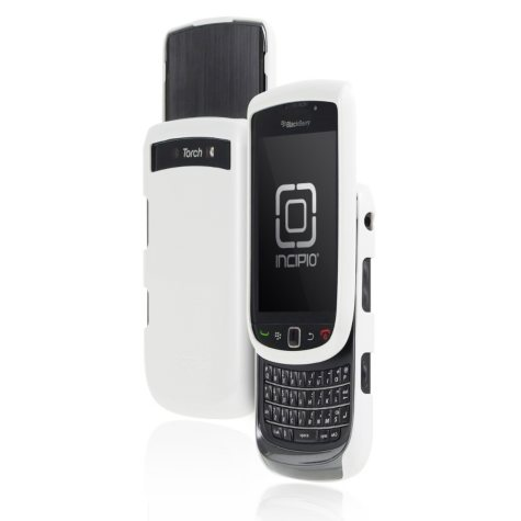 Incipio BlackBerry Torch 9800 9810 feather Ultralight Hard Shell Case - Glossy White
