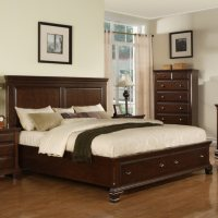 Brinley Cherry Storage Queen Bed Deals