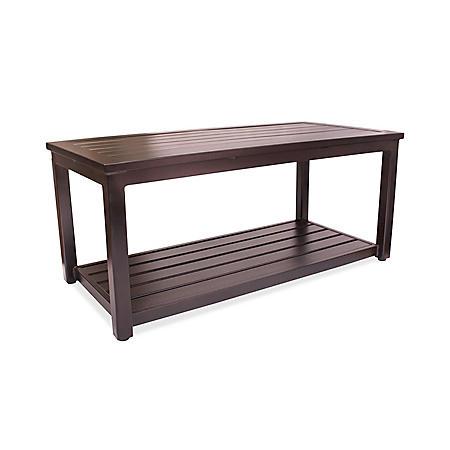 "Outdoor Aluminum Coffee Table, 20"" x 42"""