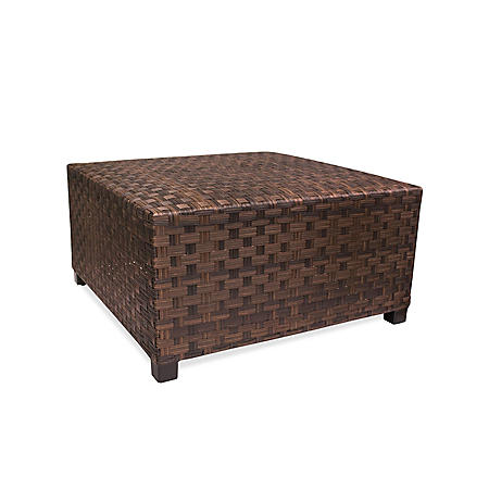 Outdoor Wicker Coffee Table With Storage