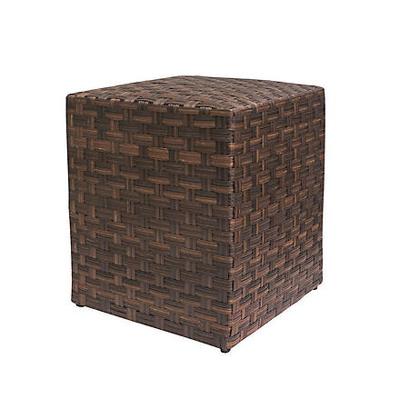 """Outdoor Woven Side Table,16"""""""