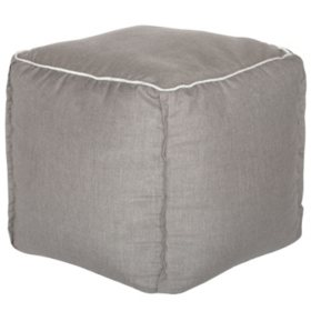 Outdoor Pouf - Sunbrella Cast Shale Fabric