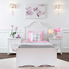Charleston Panel Bed, White (Full Size)