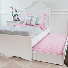 Charleston Full Bed with Trundle Bed, White (Full Size)