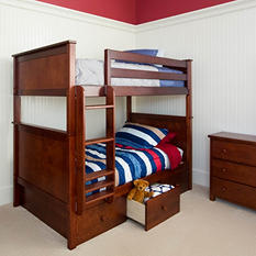 Full Bunk Bed with Storage Drawers (Assorted Colors)