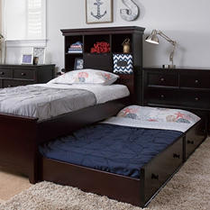 Boston Twin Bed with Trundle, Espresso